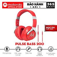 Tai Nghe Chụp Tai Motorola Pulse Bass 200 Wired - Hàng Chính Hãng