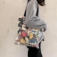 Túi vải canvas đeo vai phong cách Ulzzang Hàn Quốc (Ch.uột M.i.c.k.ey)