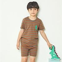 Bộ đồ ngắn tay mặc nhà cotton mịn cho bé trai U3028 - Unifriend Hàn Quốc, Cotton Organic