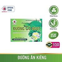 Đường Ăn Kiêng ĐƯỜNG CỎ NGỌT Hộp 100 gói - Chiết xuất từ cây cỏ ngọt tự nhiên dành cho người tiểu đường, ăn kiêng đường và tinh bột