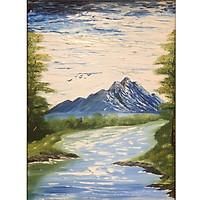 Tranh sơn dầu sáng tác vẽ tay: Non nước