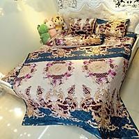 Bộ ga gối và vỏ gối ôm cotton poly CP05 gồm 4 món hàng đẹp màu sắc trang nhã cho phòng ngủ hiện đại