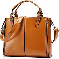 Túi đeo chéo xách tay thời trang nữ da PU bóng trơn mềm LH088