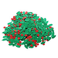 Christmas Green Holly Red Berries Table Sprinkles Party Decorations 15g