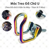 [Ngầu] Móc Treo Titan Chữ U Dành Cho Xe Máy - KLVQ-MTTU (Trộn 7 Màu)