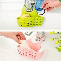 Giỏ nhựa đựng giẻ rửa bát treo bồn tiện lợi.