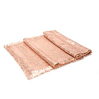"""Sparkly Sequin Table Runner Decoration - (12"""" W x 108"""" L) - Solid Rose Gold - Decorative Table Runners for Birthday Parties, Weddings, Baby Showers and Life Events"""