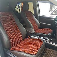 Đệm hạt gỗ tựa lưng massage lót ghế trên ô tô 100% gỗ Hương Đỏ tự nhiên cao cấp HD-D