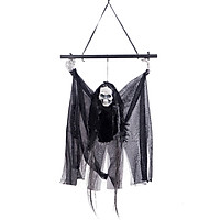 Haunted House Decoration Voice-activated Black Pole Hanging Ghost Horror Scary Hanging Flying Pendant Black & White