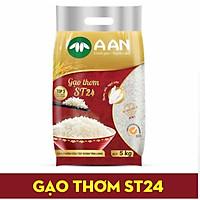 Gạo thơm, dẻo A An ST24 túi 5kg Gạo đặc sản Sóc Trăng