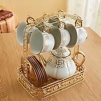 Giá treo ly, chén trà phong cách Châu Âu , Giá treo cốc uống trà, café dercor phòng khách giao màu ngẫu nhiên