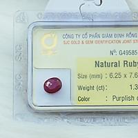Mặt Đá Quý Ruby Tự Nhiên Kiểm Định Mài giác Oval
