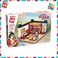 Bộ Đồ Chơi Xếp Hình Thông Minh Lego Cho Bé Gái Qman 33013 Phòng Ngủ Của Hoa Mộc Lan 293 Mảnh Ghép 2 Minifigures