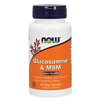 Thực phẩm bảo vệ sức khỏe Glucosamine & MSM hãng Now foods USA Bổ khớp, giảm thoái hóa khớp, sụn, giảm đau nhức do viêm khớp