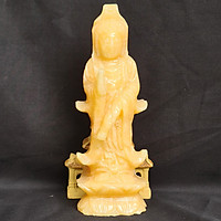 Tượng Phật Quan Âm Đứng Ngọc Hoàng Long - 15 Cm - Mx