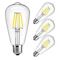Bộ Combo 5 Bóng Đèn Trang Trí Led Edison 4W Ánh Sáng Vàng dùng cho trang trí nội ngoại thất trong nhà, quán cafe..( bóng dài )