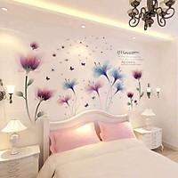 Decal dán tường hoa lãng mạn - combo hoa 3D sang trọng