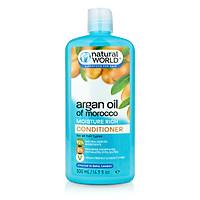 Dầu xả dưỡng tóc mềm mượt, phục hồi tóc hư tổn Argan oil of Morrocco Natural World 500ml