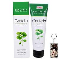 Sữa rửa mặt Beauskin Centella Cica Cleansing Foam Hàn Quốc 120ml tặng kèm móc khoá