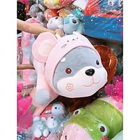 Gối ôm gấu bông hình chuột hồng 80 cm