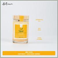 Nến thơm hương cam ngọt và hoắc hương tinh dầu thiên nhiên cao cấp - Bấc gỗ, không khói - Sáp nành [Uplift Candle]