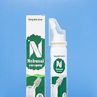 Dung dịch muối biển ưu trương giúp vệ sinh tai hàng ngày, làm sạch ống tai, giúp phá vỡ, loại bỏ và ngăn ngừa tích tụ ráy tai, rửa sạch bụi bẩn Nebusal Ear Spray 3.5% (Hộp 1 chai 50ml)