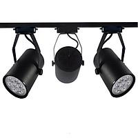 Combo 3 đèn rọi ray 7W + 1 ray 1 mét vỏ đen KX500 loại chuẩn