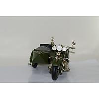 Mô hình xe máy, xe mô tô cổ điển/ Side Motorcycle metal vintage Decoration Handmade (1904D-1342)