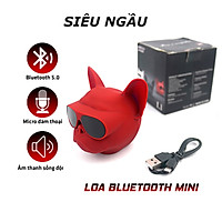 Loa Bluetooth Mini Đầu Chó Bull, Vỏ Chống Thấm Nước, Cá Tính Cực Ngầu Hỗ Trợ Thẻ Nhớ, Đài Fm, USB, Cổng 3.5, Nhiều Màu Sắc - Hàng Chính Hãng