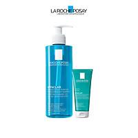 Bộ sản phẩm làm sạch sâu và ngăn mụn tát phát dành cho da dầu mụn La Roche-Posay Effaclar Double Cleansing