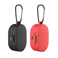 2x Silicone Protective Cover For Xiaomi MI Redmi AirDots Earphone Red+Black