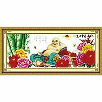 Tranh thêu chữ thập DI LẠC HOA MẪU ĐƠN  (164 × 70 cm) A405 chưa thêu