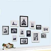 Bộ 13 khung ảnh Composite treo tường phòng khách, quán Cafe KA1301 Miễn phí phụ kiện.