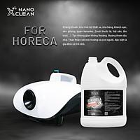 Dung dịch Nano Xclean For Horeca 4L Dùng Với Máy Phun Khói-Kháng Khuẩn, Khử Mùi Mốc, Mùi Ẩm, Mùi Hôi Không Gian Nhà Hàng-Nano Bạc AHTC