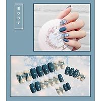 Bộ 24 móng tay giả nail thời trang họa tiết bắt mắt chống thấm nước (E037)