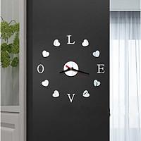 Đồng hồ treo tường 3D tự lắp ráp DIY chữ LOVE (DH84)