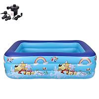 Bể bơi phao cho bé swimming pool KT 210*145*60cm (tặng bơm điện, 1 lọ keo và 2 miếng dán)
