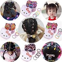 PK16aCột tóc vải bé gái (3 sợi - không phải 1 hộp) Thời trang trẻ Em hàng quảng châu  - PHỤ KIỆN BÉ GÁI