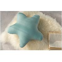 Gối hình ngôi sao Decoview màu xanh, chất liệu linen, KT 45x45x15cm