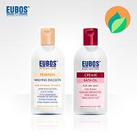 Dung dịch vệ sinh phụ nữ EUBOS 200ml + Sữa tắm dưỡng ẩm EUBOS 200ml