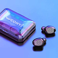 Tai Nghe Bluetooth Thể Thao True WireLess CONVI CVF9 | Âm thanh 8D Hifi | Kháng nước IPX5 | Pin 1200 mAh kiêm sạc dự phòng | Đèn led hiển thị pin tai nghe - Hàng Chính Hãng