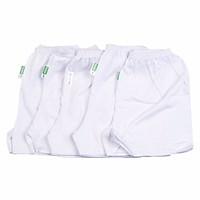 Set 5 quần trắng ngắn cho bé mặc nhà (5-15kg)