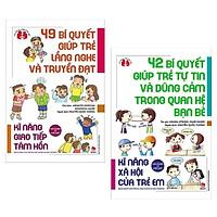 Combo 2 Cuốn Sách Kinh Nghiệm Từ Nước Nhật - Kĩ Năng Xã Hội Của Trẻ Em: 49 Bí Quyết Giúp Trẻ Lắng Nghe Và Truyền Đạt + 42 Bí Quyết Giúp Trẻ Tự Tin Và Dũng Cảm Trong Quan Hệ Bạn Bè (Tặng Kèm Bookmark Happy Life)
