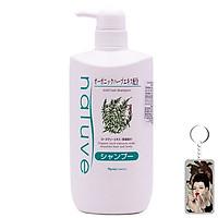 Dầu gội thảo dược mượt tóc Naris Natuve Mild Hair Shampoo Nhật Bản 650ml + Móc khóa