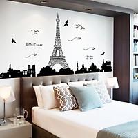 Decal dán tường trang trí sang trọng thành phố PARIS phòng khách, phòng ngủ sinh động