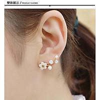Bông tai nữ họa tiêt cành hoa đơn giản hoa tai tính khí thời trang Hàn Quốc hoa tai mới B249
