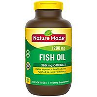 Viên Uống Dầu Cá Nature Made Fish Oil 1200mg Bổ Mắt Tốt Cho Tim Mạch