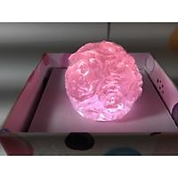 Xà bông trong suốt quả cầu hoa hồng 3 D  -  50 gam