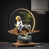 Thác Nước Phong Thủy Chú Tiểu Thiền Vòng Ánh Sáng