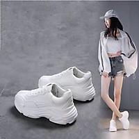 Giày thể thao nữ full trắng đế cao siêu đẹp